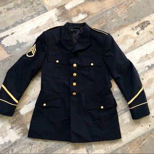 Men's US Army dress blues blazer jacket